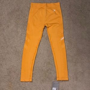 Gymshark Flawless Knit Tight Citrus Yellow